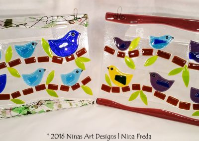 ninasart-brindle birds